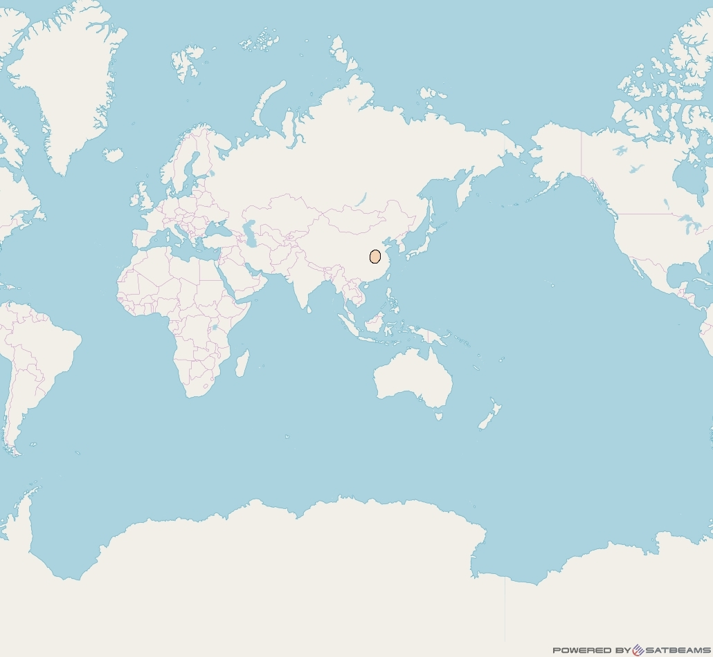 Chinasat 16 at 110° E downlink Ka-band S17 User Spot beam coverage map
